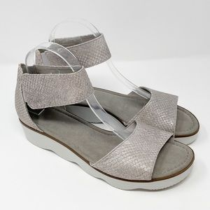 GABOR Sparkly Ankle Strap Wedge Sandals Womens 8